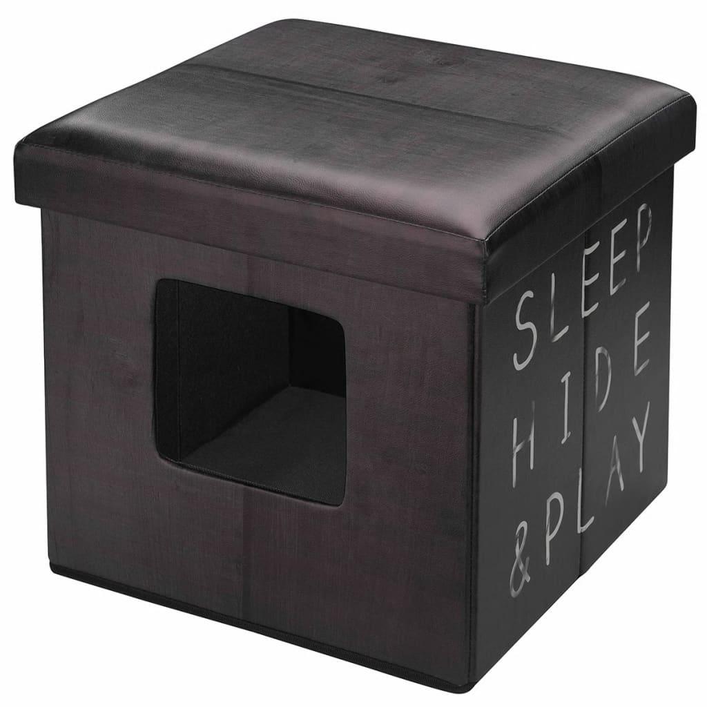 D&D Polsterhocker Katzenhaus Sleep Hide Play 38x38 cm Braun 434/431627