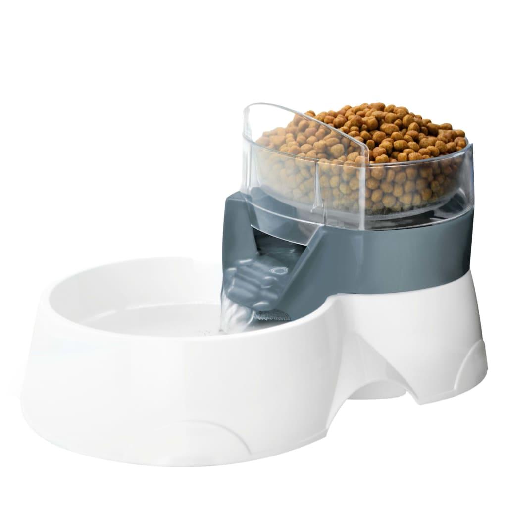 Ebi Water-/voerbak automatisch 2-in-1 28x19x17 cm grijs en wit