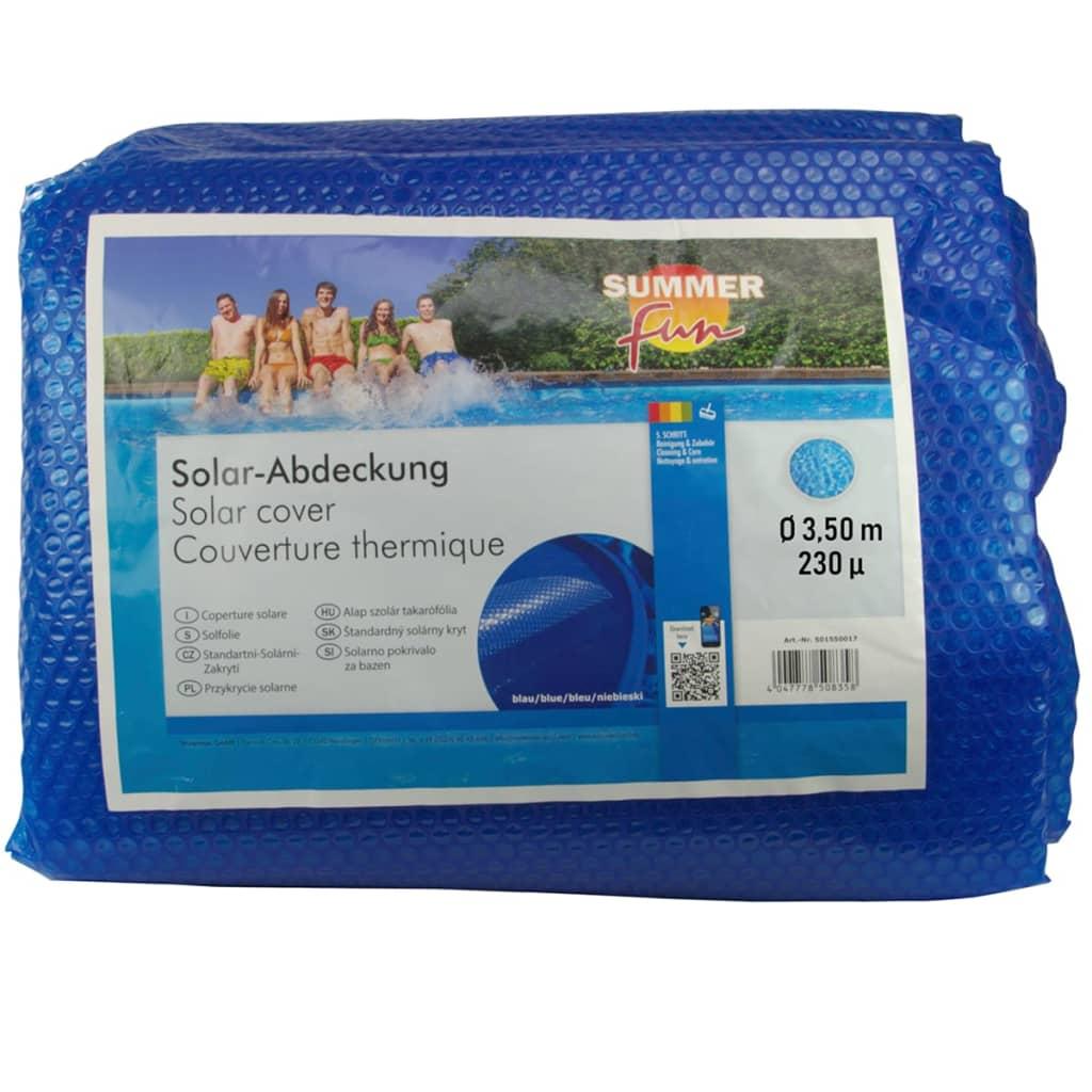 Summer Fun Prelată piscină solară de vară, albastru, 350cm, PE, rotund poza 2021 Summer Fun