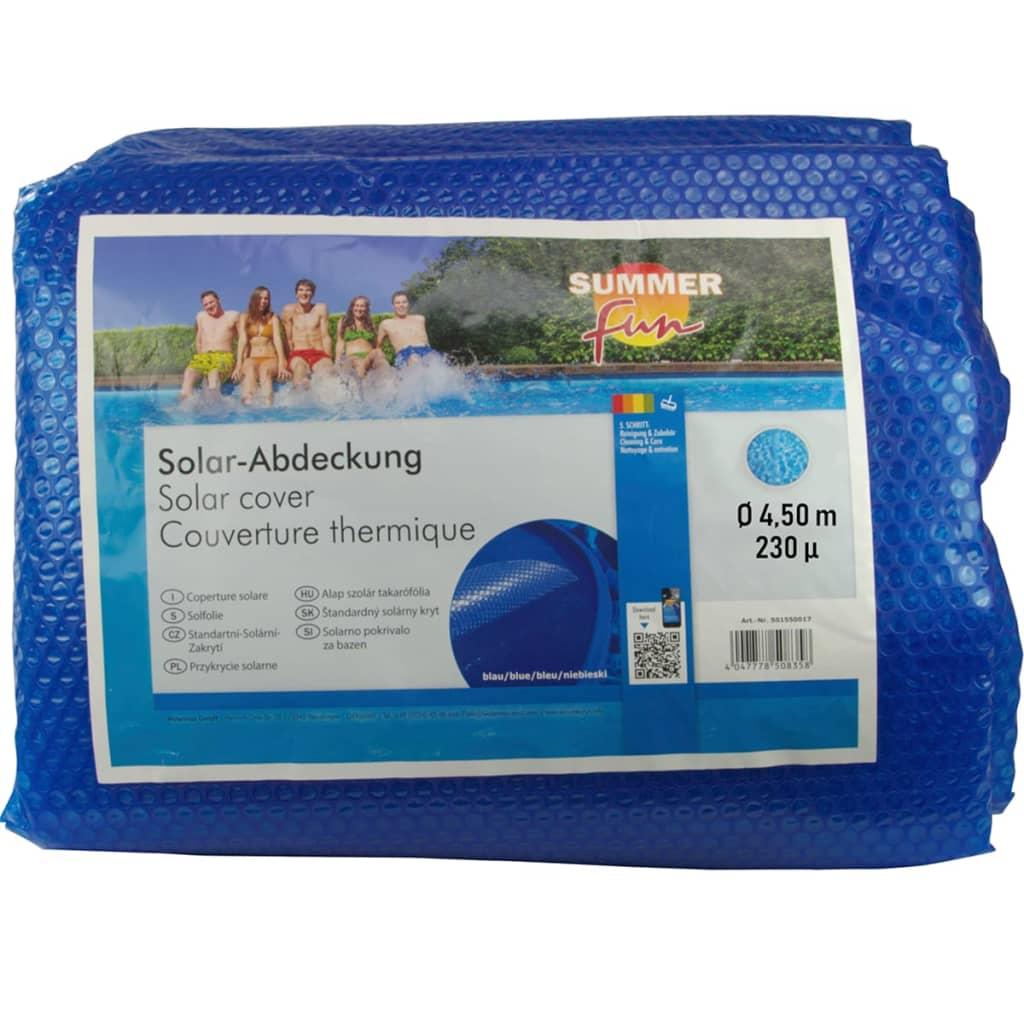 Summer Fun Prelată piscină solară de vară, albastru, 450cm, PE, rotund imagine vidaxl.ro