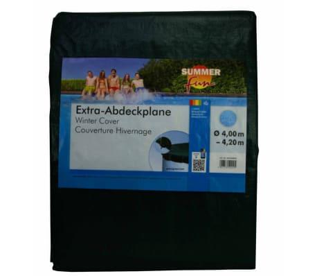 Summer Fun Couverture de piscine d'hiver Ronde 400-420 cm PVC Vert[2/2]
