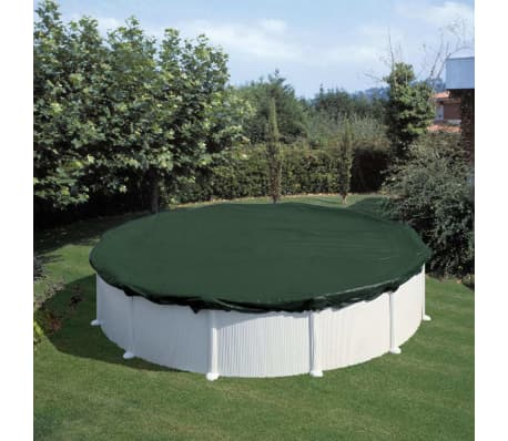 Summer Fun Couverture de piscine d'hiver Ronde 400-420 cm PVC Vert[1/2]
