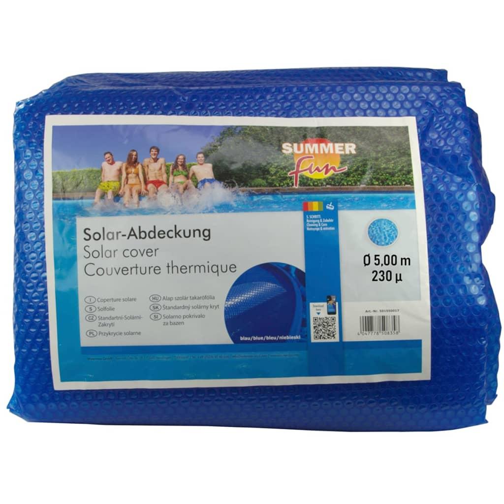 Summer Fun Prelată piscină solară de vară, albastru, 500cm, PE, rotund imagine vidaxl.ro