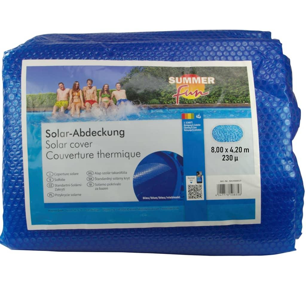Summer Fun Prelată piscină solară de vară albastru 800x420 cm PE oval imagine vidaxl.ro