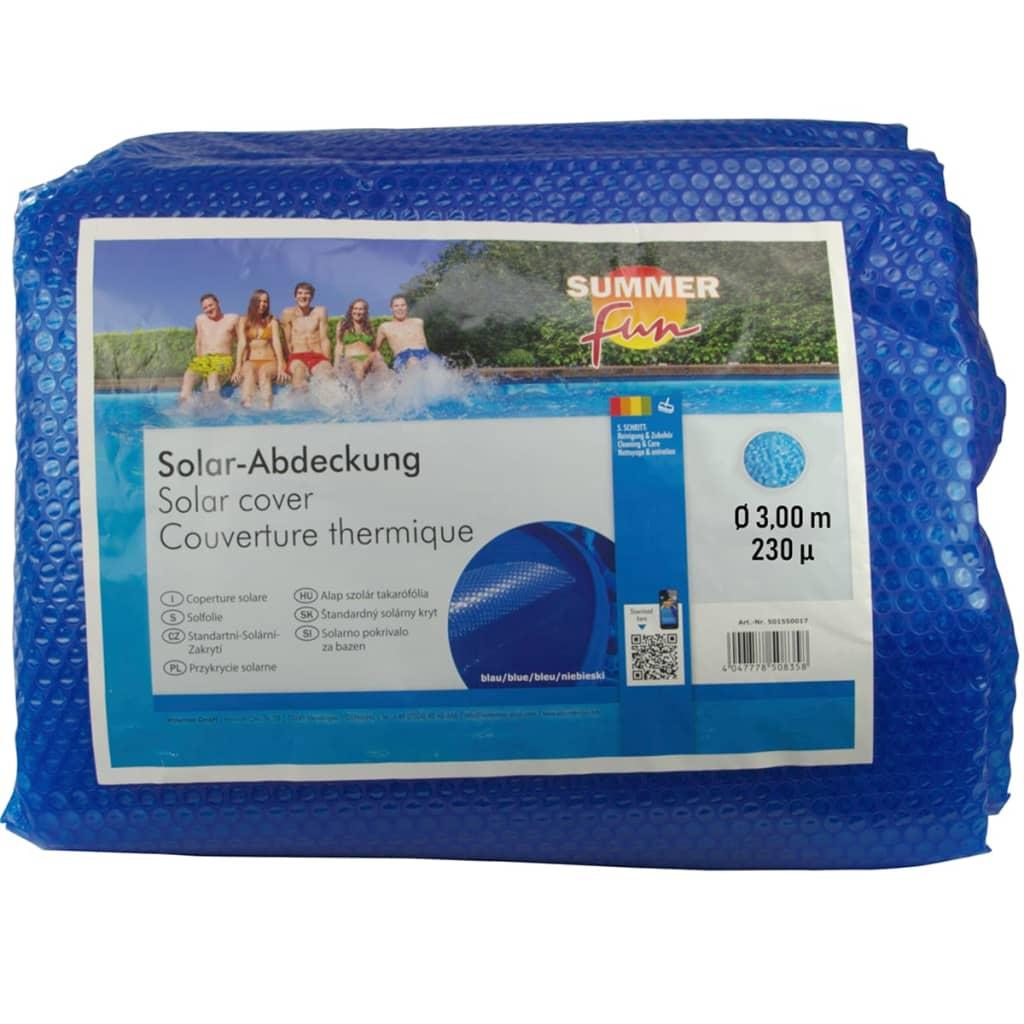 Summer Fun Prelată piscină solară de vară, albastru, 300cm, PE, rotund vidaxl.ro