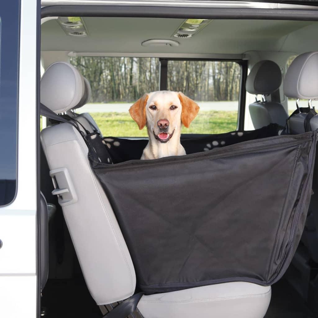 TRIXIE Honden beschermhoes achterbank 65x145 cm zwart en beige 13231