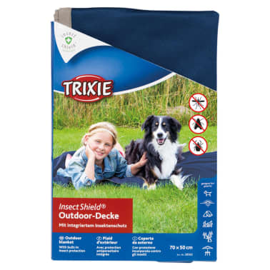 TRIXIE Outdoor Decke Insect Shield 70 x 50 cm Dunkelblau 28562[4/4]