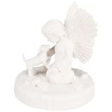 TRIXIE Memorial Stone Dog with Angel White 38418