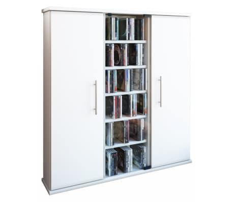 cd dvd rek kast santo met deuren wit online kopen. Black Bedroom Furniture Sets. Home Design Ideas