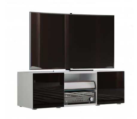 Tv Meubel Kast.Tv Meubel Kast Lowina 115 Cm Premium Body Hoogglans Wit Deuren