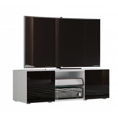 Zwart Bruine Tv Kast.Tv Meubel Kast Lowina 115 Cm Premium Body Hoogglans Wit Deuren