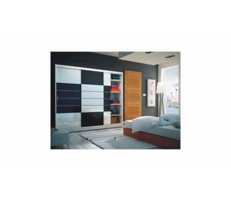 justyou aruba 250 kleiderschrank wei schwarz g nstig. Black Bedroom Furniture Sets. Home Design Ideas