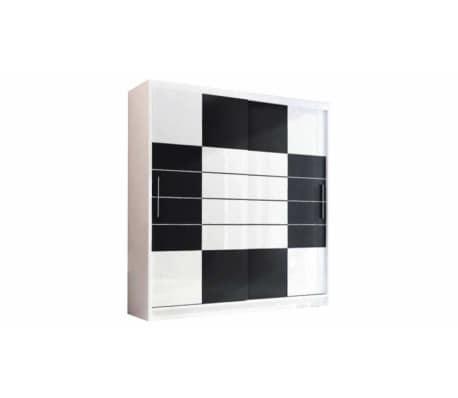 justyou aruba 203 kleiderschrank wei schwarz g nstig. Black Bedroom Furniture Sets. Home Design Ideas