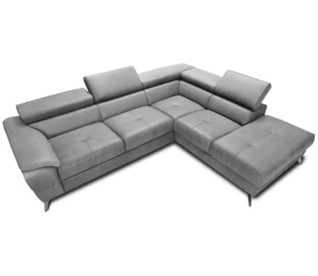 justyou ivette ecksofa grau g nstig kaufen. Black Bedroom Furniture Sets. Home Design Ideas