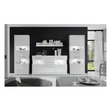 Justyou Santorini Wohnwand Weiß Weiß Hochglanz Günstig Kaufen
