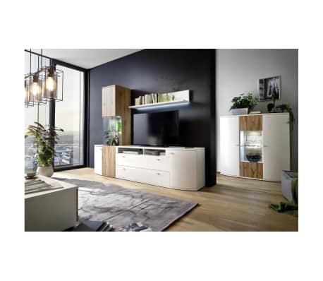 JUSTyou Mirales Mobili per soggiorno Bianco | Rovere | vidaXL.it