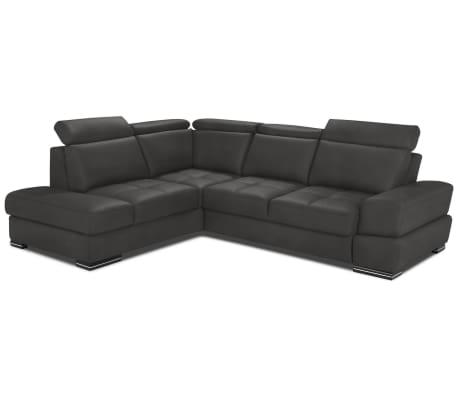 justyou iness ecksofa kunstleder ranger anthrazit g nstig kaufen. Black Bedroom Furniture Sets. Home Design Ideas