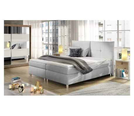 justyou cleo boxspringbett wei 180x200 g nstig kaufen. Black Bedroom Furniture Sets. Home Design Ideas