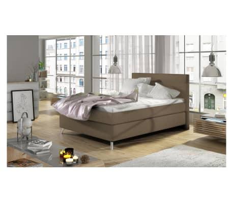 justyou iose boxspringbett braun kunstleder 120x200. Black Bedroom Furniture Sets. Home Design Ideas
