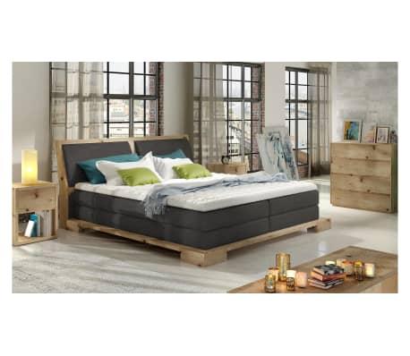justyou feme boxspringbett massiv grau 180x200 g nstig kaufen. Black Bedroom Furniture Sets. Home Design Ideas