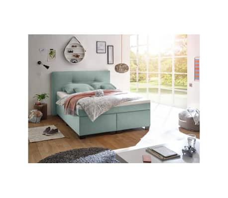 justyou edessa boxspringbett 140x200 cm hellblau g nstig kaufen. Black Bedroom Furniture Sets. Home Design Ideas