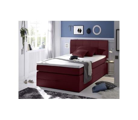 justyou new bedford boxspringbett 120x200 cm rot g nstig. Black Bedroom Furniture Sets. Home Design Ideas