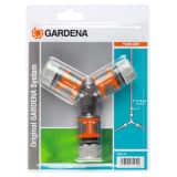 Gardena 2-Wege-Schlauchkupplungs-Set Orange und Grau 18287-20