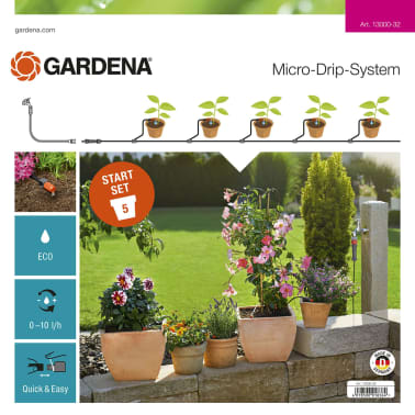 gardena micro drip system for plant pots s starter set 13000 32. Black Bedroom Furniture Sets. Home Design Ideas