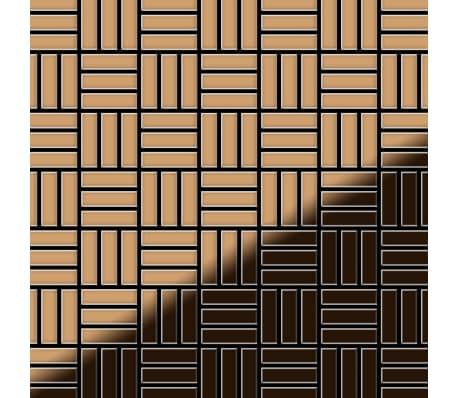 ALLOY Basketweave-Ti-AM Kovová mozaika z titanu měděná