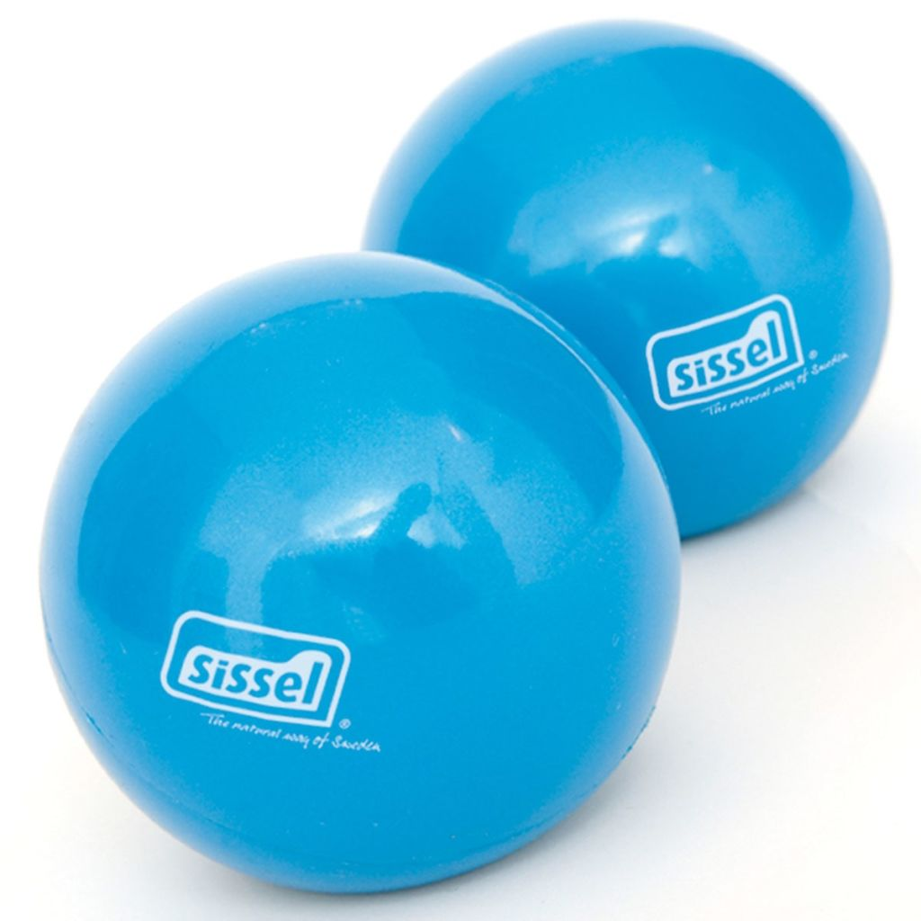 Sissel Hand Trainer Set 2 Piece Twin Grip Green//Pink Exercise Ball SIS-162.070
