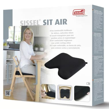 Sissel Coussin de siège Sit Air Noir 35,5 x 35 x 5,5 cm SIS-120.060[4/4]