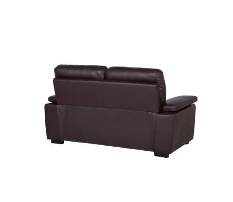 sofa set kunstleder braun vogar. Black Bedroom Furniture Sets. Home Design Ideas