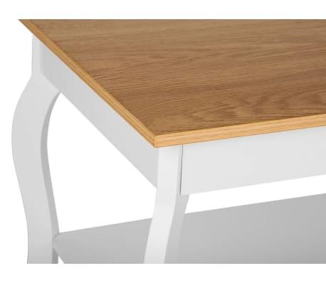 Tavolino da caffè bianco e legno marrone HARTFORD | Beliani.it