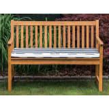 Garden Bench Certified Acacia Wood 120 cm with Blue Cushion VIVARA