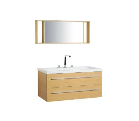 Conjunto de muebles de baño beige BARCELONA