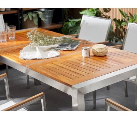 Table de jardin en bois acajou 180 x 90 cm GROSSETO   vidaXL.be