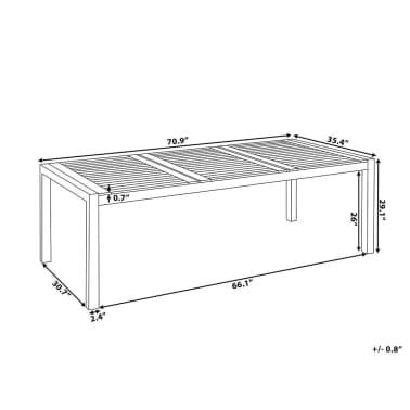 Table de jardin en bois acajou 180 x 90 cm GROSSETO   vidaXL.fr