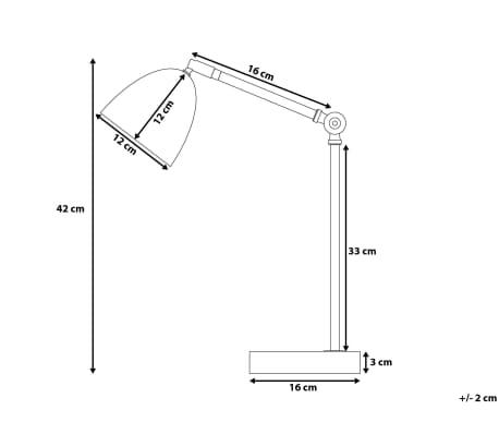 Lámpara de mesa blanca CHANZA[10/10]