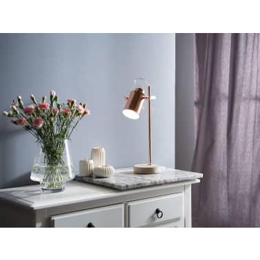 Lámpara de mesa cobriza 37 cm MUNDAKA[1/10]
