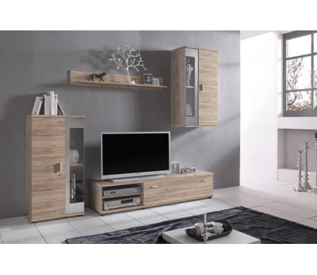 Set di mobili componibili da soggiorno in legno di quercia CRACOW ...