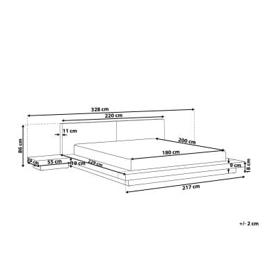 bett hellbraun lattenrost 180 x 200 cm zen g nstig kaufen. Black Bedroom Furniture Sets. Home Design Ideas