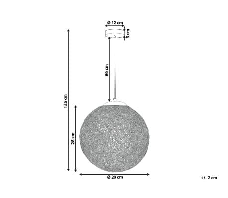 Lámpara colgante plateada TURAMA[3/9]