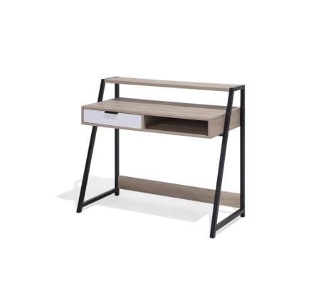 schreibtisch hellbraun 100 x 50 cm calvin g nstig kaufen. Black Bedroom Furniture Sets. Home Design Ideas