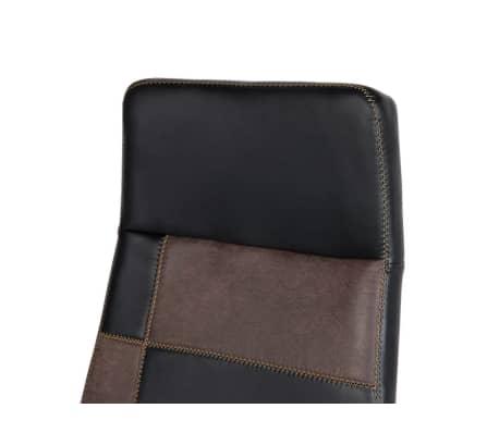 Krzesło biurowe czarne/brązowe regulowana wysokość DELUXE[8/12]