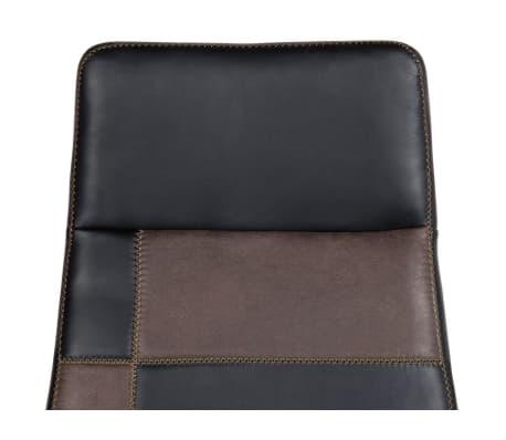 Krzesło biurowe czarne/brązowe regulowana wysokość DELUXE[9/12]
