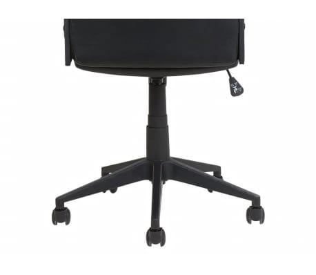 Krzesło biurowe czarne/brązowe regulowana wysokość DELUXE[11/12]