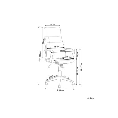 Krzesło biurowe czarne/brązowe regulowana wysokość DELUXE[10/12]
