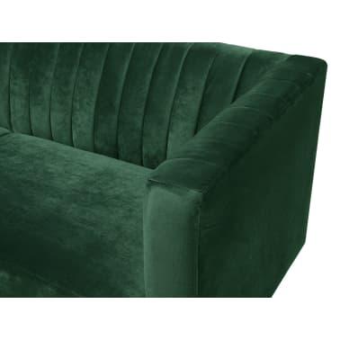 Terrific 3 Seater Velvet Fabric Sofa Green Arvika Vidaxl Co Uk Theyellowbook Wood Chair Design Ideas Theyellowbookinfo
