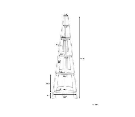 Estante madera oscura/blanco MOBILE SOLO[11/11]