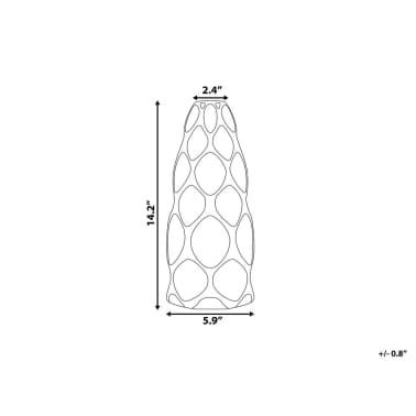 Vase en céramique blanche AVILA[6/10]